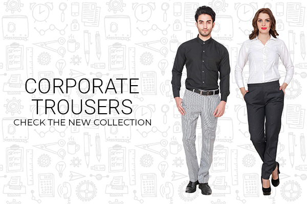 Corporate uniform trousers