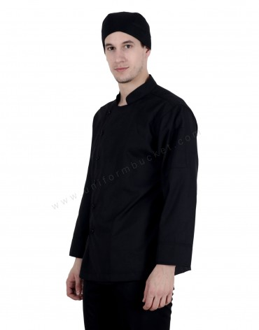 Black Chef Jacket For Men