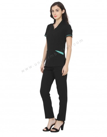 Two tone Tunic With Front Opening