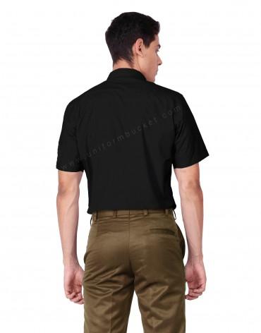 Black Half Sleeve Uniform Shirt For Men