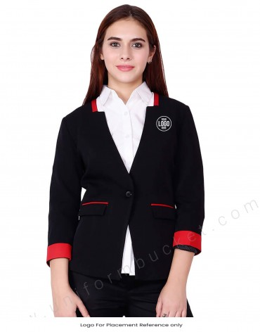 Corporate Blazer With Red Trims
