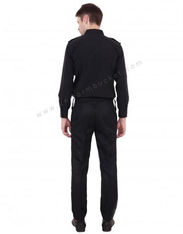 Black Security Guard Shirt For Men