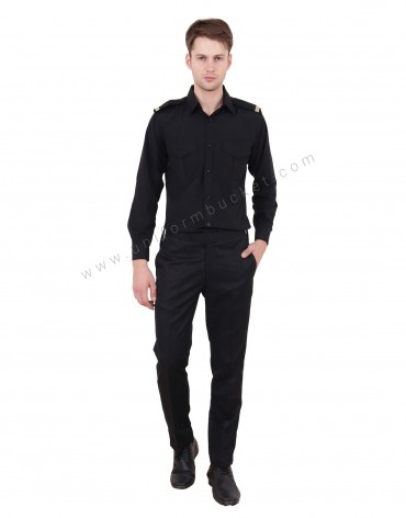 Black Security Guard Shirt For Men