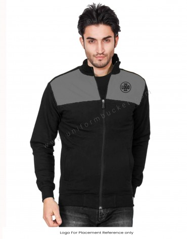 Black jacket With Grey Trims