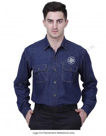 Dark Blue Demin Shirt