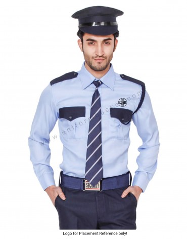 Blue Security Guard/Driver Shirt For Men