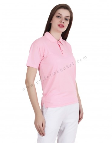 Pink Uniform Polo T- Shirt
