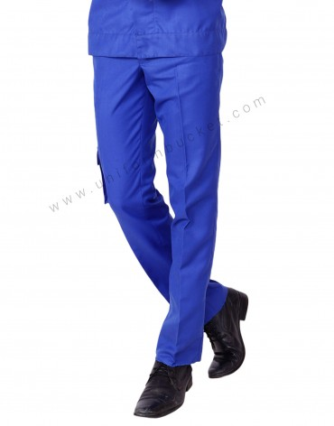 Plain Blue Trouser With One Side Pocket