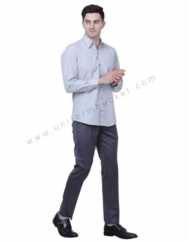 Plain Grey Formal Trousers