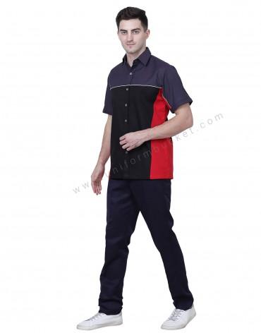 Tri Color Workwear Shirt For Men