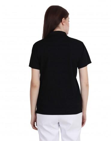 VLCC Black PC Matty Polo T- Shirt For Female