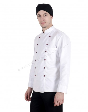 White Double Breasted Chef Coat