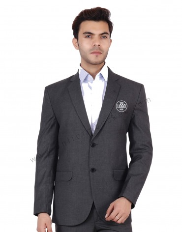 Worsted Grey Blazer For Men